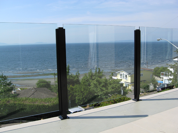 Frameless Glass Railings Installed In The Fraser Valley
